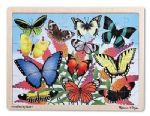 CHILDRENS MELISSA AND DOUG WOODEN BUTTERFLY GARDEN 48 PIECE FLOOR JIGSAW PUZZLE